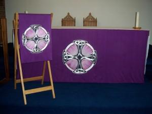 Purple Altar Frontal