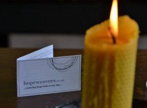 Hopeweavers Beeswax Candle